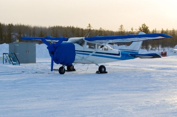 Keeping my Cessna 206 warm and ready to go was essential.